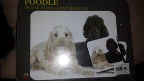 NIP Little Gifts Poodle Mousepad & Coaster Set (T=40/6) in Fort Campbell, Kentucky