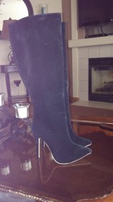 black suede/velvet tall boot in Fort Carson, Colorado