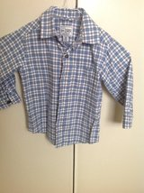 Plaid button up shirt for toddler boy in Okinawa, Japan