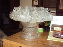 Anchor Hocking Punch Bowl Set In Wexford Pattern in Cadiz, Kentucky