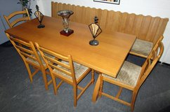 Large Solid Wood Table With Large Bench and 4 Chairs in Ramstein, Germany