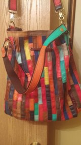 Large FUN COLORFUL LEATHER cross body Handbag in Joliet, Illinois
