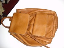 Leather backpack style handbag with sturdy handle in Camp Lejeune, North Carolina