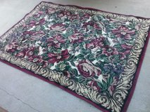 Burgundy / Tan / Floral Area Rug in Fort Campbell, Kentucky