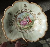 """Vintage Lefton China 6"""" Candy/Nut Dish, Hand Painted in 29 Palms, California"""