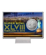 *** Super Bowl XLVIII Highland Mint Etched Silver Plated Coin Card *** (NEW) in Fort Lewis, Washington