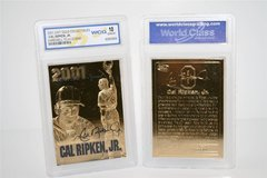 "*** CAL RIPKEN JR 23KT Gold Card 2001 ""Farewell to a Legend"" Graded 10 *** in Fort Lewis, Washington"