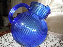 Vintage Cobalt Blue round tilted pitcher in Moody AFB, Georgia