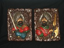 Vintage 3D Spanish Conquistador Bas Relief Plaques and Bookends in Bolingbrook, Illinois