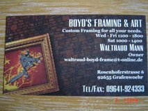 Boyd's Framing and Art in Grafenwoehr, GE