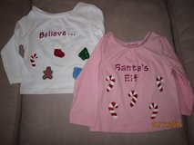 Very Cute Custom Made Christmas Shirts!! Size 12 months in Plainfield, Illinois