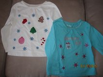 Toddler Girls' Custom Hand Made Christmas Shirts Size 24M - CUTE!! in Plainfield, Illinois