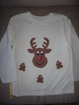 Toddler Girl or Boy Custom Made Rudolph Christmas Shirt Size 4T in Plainfield, Illinois
