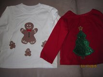 Toddler Girl and Boy Size 18 mos Custom Made Red Gingerbread Christmas Shirts CUTE!!! in Plainfield, Illinois