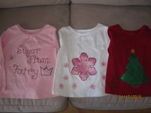 Toddler Girl Christmas Red White Pink Custom Hand Made Shirts Size 3T - CUTE!! in Plainfield, Illinois