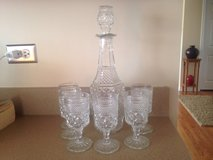Vintage Decanter & Goblets in Joliet, Illinois