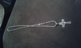 silver mens chain and  cross in Fort Drum, New York