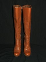 The Wild Pair Ladies Knee High Brown Leather Boots 6 1/2 M in Oswego, Illinois