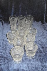 Vintage Glass Goblets & Parfait 12 pieces in Alamogordo, New Mexico