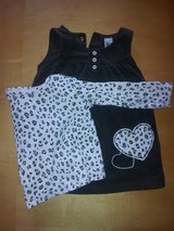 18 month Brown Dress with Pink Animal Print Shirt in Joliet, Illinois