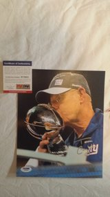 Giants Coach Tom Coughlin signed 8x10 in Fort Carson, Colorado