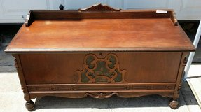 Antique Cedar Chest with carvings in Kingwood, Texas
