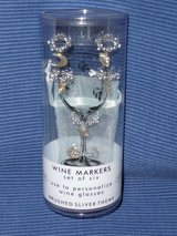 Silver Wine Glass Markers NEW in Stuttgart, GE
