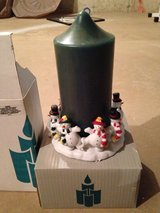Party lite snowman candle holder and candle in Naperville, Illinois