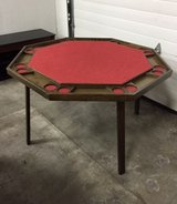 8 Station Folding Poker Table w/tabletop cover in Chicago, Illinois