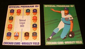 1969 & 1972 Chicago Cubs Programs w/ Ernie Banks Player & Manager in Joliet, Illinois