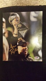 Saints Coach Sean Payton signed 8x10 & patch in Fort Carson, Colorado