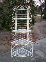 Gorgeous French Provincial Wrout Iron Corner Baker's Rack in Beaufort, South Carolina