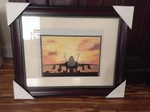 Framed Picture of Military Aircraft in Camp Lejeune, North Carolina