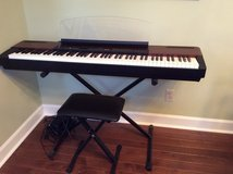 Yamaha P120 88 key Stage Piano with Speakers (stand and seat included) in Byron, Georgia