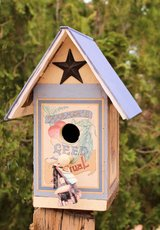 Beautiful bird House, made from Recycled wood and a Book in Yucca Valley, California