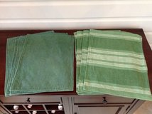 Green Cotton Placemats - 2 sets of 4 in Glendale Heights, Illinois