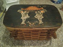Hand Painted Picnic Basket in Westmont, Illinois