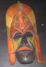HANDCARVED KENYAN WOODEN MASK in Camp Lejeune, North Carolina