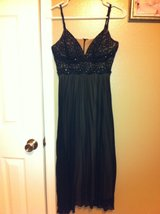 Black formal party dress in Houston, Texas