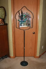 Vintage Black and Teal Bird Cage and Stand in Naperville, Illinois