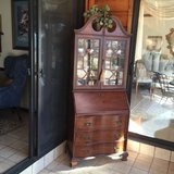 1 Antique Wood Broyhill China Cabinet, Desk, Chest in Fort Leonard Wood, Missouri