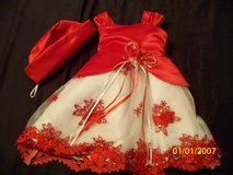 3-6 month red and white dress in Fort Leonard Wood, Missouri