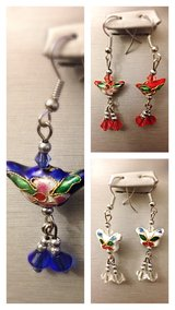Set of 3 Cloisonne Earrings in Yucca Valley, California