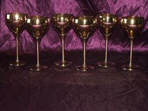 Solid Brass Goblets Set of 6 in Naperville, Illinois