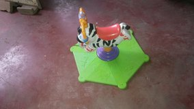 Fisher Price Bounce and Spin Zebra in Leesville, Louisiana