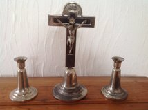 Antiques cross - set with 2 candle holders in Ramstein, Germany