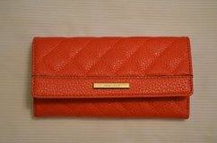 ANNE KLEIN Women's Wallet w/ Checkbook Cover Clutch ~Red in Bolingbrook, Illinois