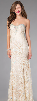 Ivory Lace Gown (size 6) in Houston, Texas
