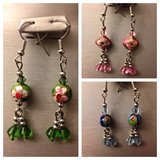 Set of 3 Cloisonne Ball Earrings in Yucca Valley, California