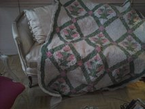 pink and green trapunta quilt in Westmont, Illinois